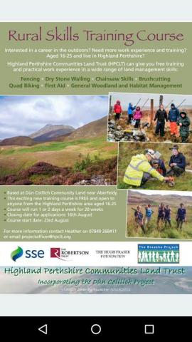 Apply for rural skills training course