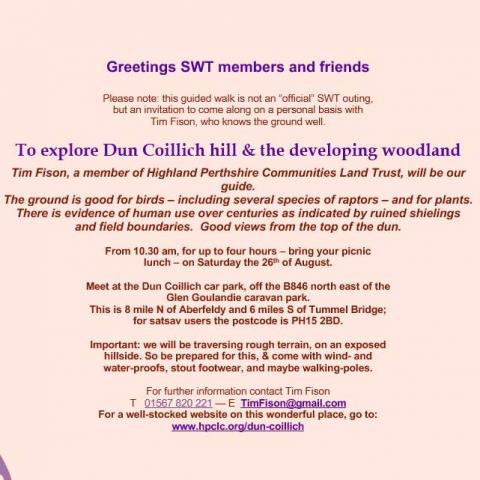 Guided walk at Dùn Coillich