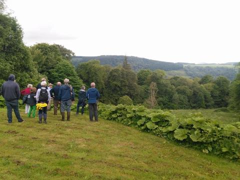 Trustees casting their eyes over the new area of land at the Lower Birks in Aberfeldy on 6th June 2017. Great turn out and the many options for the future use of the land were discussed. Thanks to Bill Hoare for showing everyone around